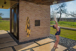 sanders architecture pool cabana shower