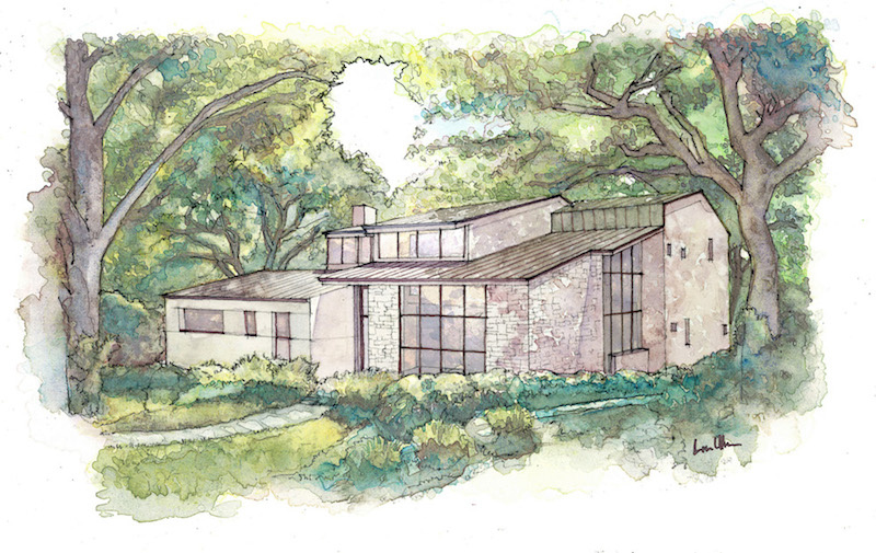 Leberman Lane Watercolor design